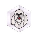 Poodle Standard Suncatcher by Pet Prints EW217