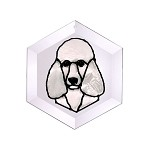Poodle-White Suncatcher by Pet Prints EW265W