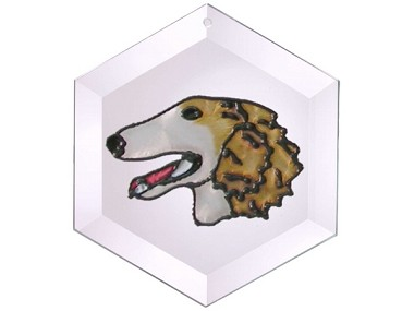 Borzoi Suncatcher by Pet Prints EW296