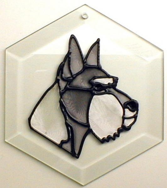 Schnauzer - Cropped Ears Suncatcher by Pet Prints EW144c