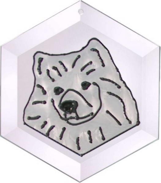 Ameican Eskimo Suncatcher by Pet Prints EW294