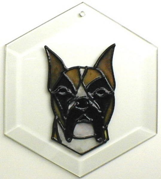 Boxer - Cropped Ears Suncatcher by Pet Prints EW166c