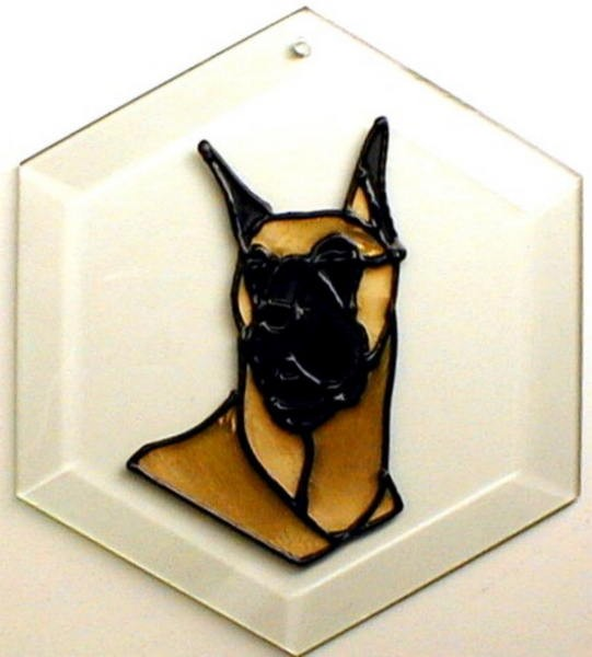 Great Dane - Cropped Ears Suncatcher by Pet Prints EW261
