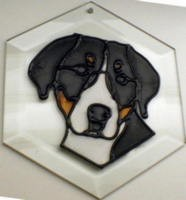 Greater Swiss Mountain Dog II Suncatcher by Pet Prints EW232