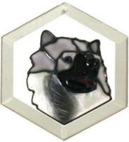 Keeshound Suncatcher by Pet Prints EW211