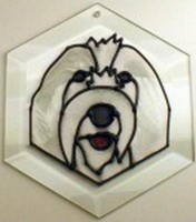 Old English Sheep Dog Suncatcher by Pet Prints EW253