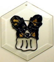 Papillon - Head Suncatcher by Pet Prints EW288