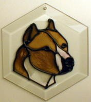 Pit Bull - Cropped Ears Suncatcher by Pet Prints EW145