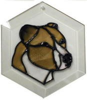 Pit Bull - Natural Ears Suncatcher by Pet Prints EW151