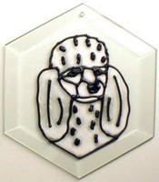 Poodle Suncatcher by Pet Prints EW181