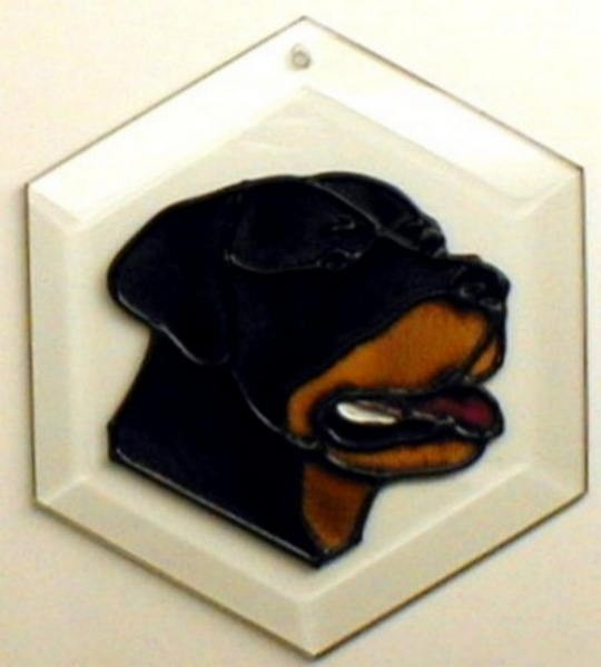 Rottweiler Suncatcher by Pet Prints EW167