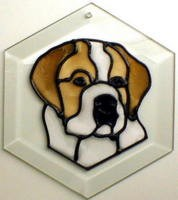 Saint Bernard II Suncatcher by Pet Prints EW272