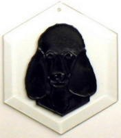Poodle-Black Suncatcher by Pet Prints EW265B