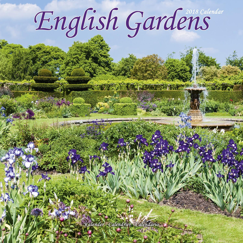 English gardens calendar 2018 pet prints inc for Gardening wall planner