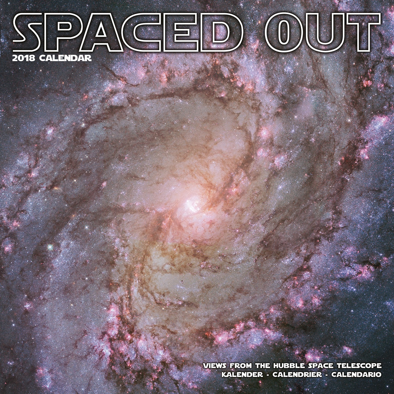 Spaced Out Wall Calendar 2018