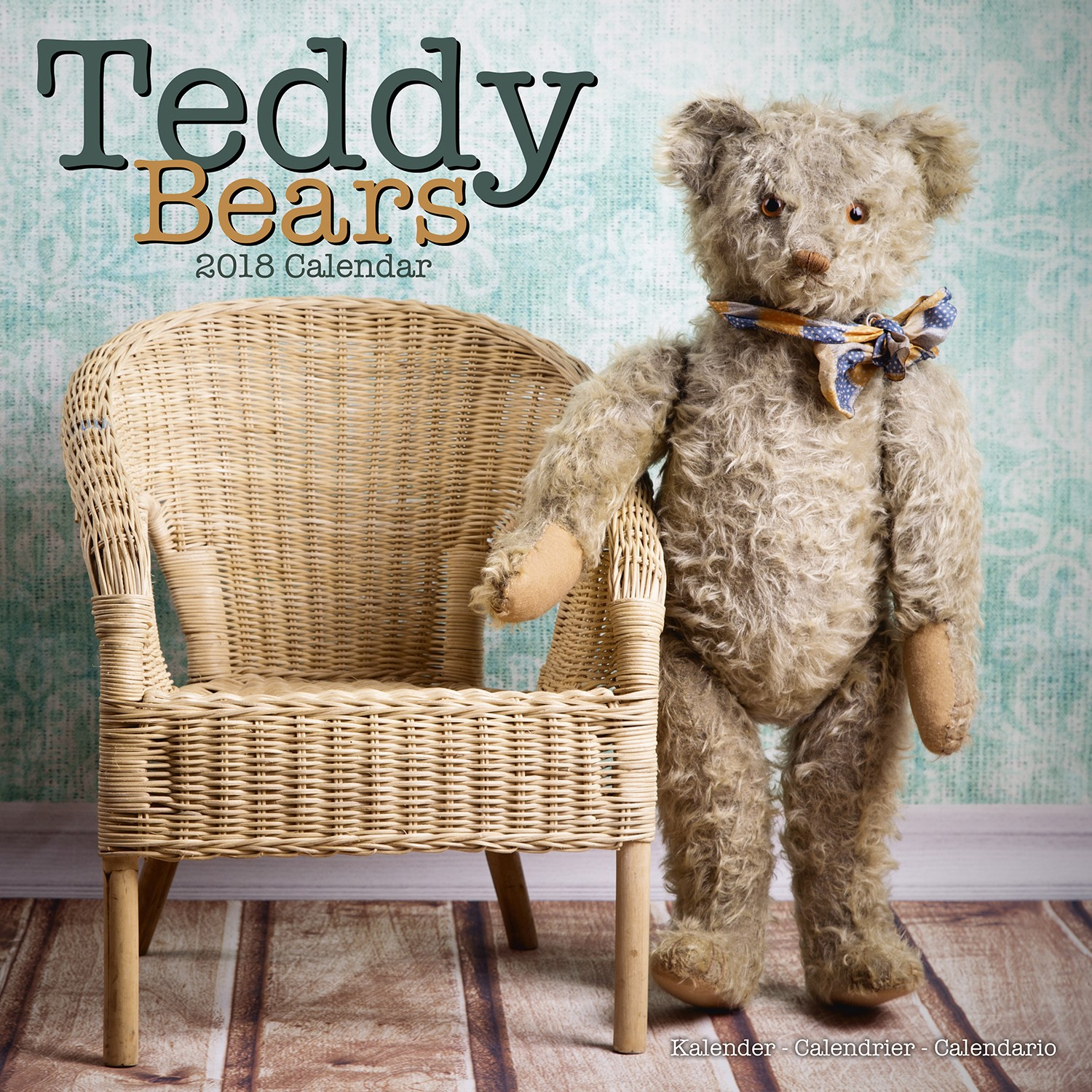 Teddy Bears Wall Calendar 2018