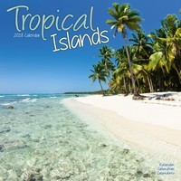 Tropical Islands Wall Calendar 2018