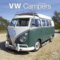 Vw Campers Wall Calendar 2018