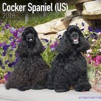Cocker Spaniel (Us) Wall Calendar 2018