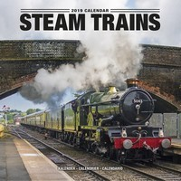 Steam Trains Wall Calendar 2019