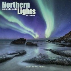 Northern Lights Wall Calendar 2021 by Avonside