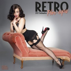 Retro Pin Ups  Wall Calendar 2021 by Avonside