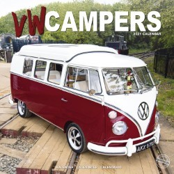 VW Campers Wall Calendar 2021 by Avonside
