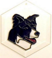 Border Collie Suncatcher by Pet Prints EW180