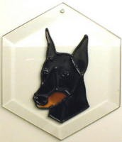 Doberman - Cropped Ears Suncatcher by Pet Prints EW155