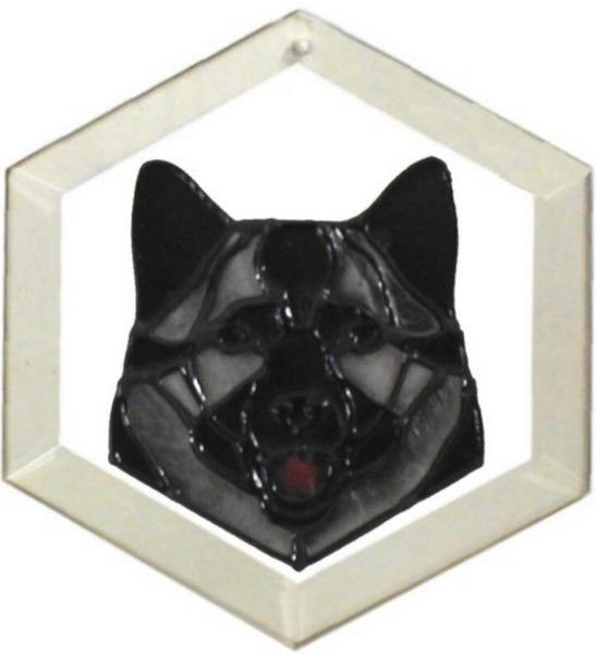 Norwegian Elkhound Suncatcher by Pet Prints EW219