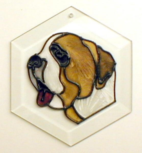 Saint Bernard I Suncatcher by Pet Prints EW139